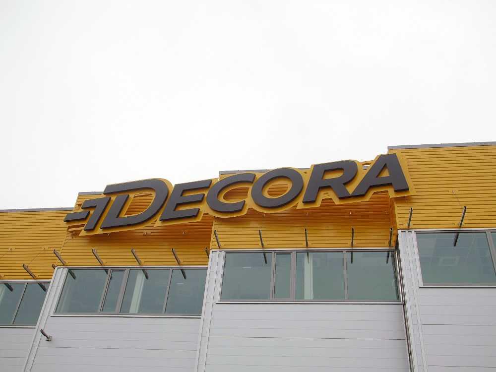 Объемные буквы DECORA с подсветкой контражур
