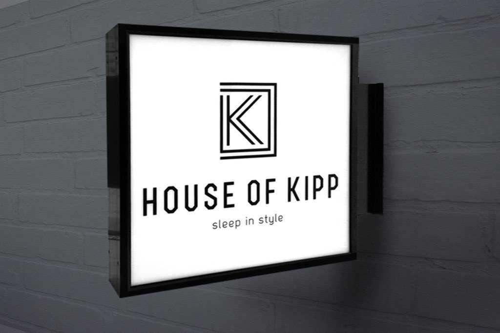 Рекламная консоль панель кронштейн световая House of kip