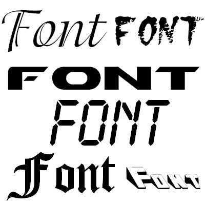 какой шрифт лучше для вывески