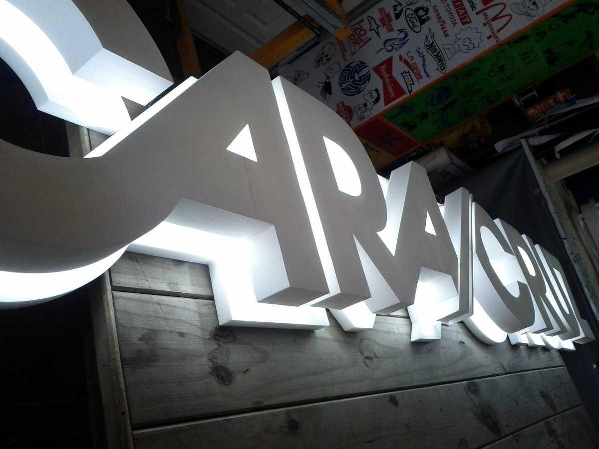 Объемные буквы с контражурной подсветкой Мегаманго цена заказать
