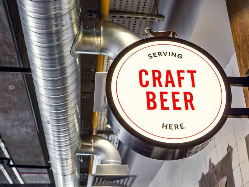 Заказать круглую рекламную консоль крафтовое пиво панель кронштейн спб цена