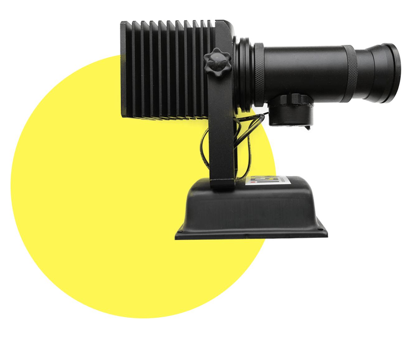 Гобо проекторы для наружной рекламы на здания и на асфальт